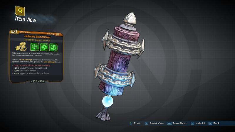 Borderlands 3 Legendary Siren Class Mod - Spiritual Driver