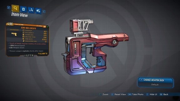 Borderlands 3 Legendary Tediore Pistol - S3RV-80S-EXECUTE