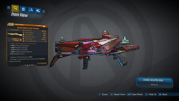 Borderlands 3 Legendary Hyperion Shotgun - Heart Breaker