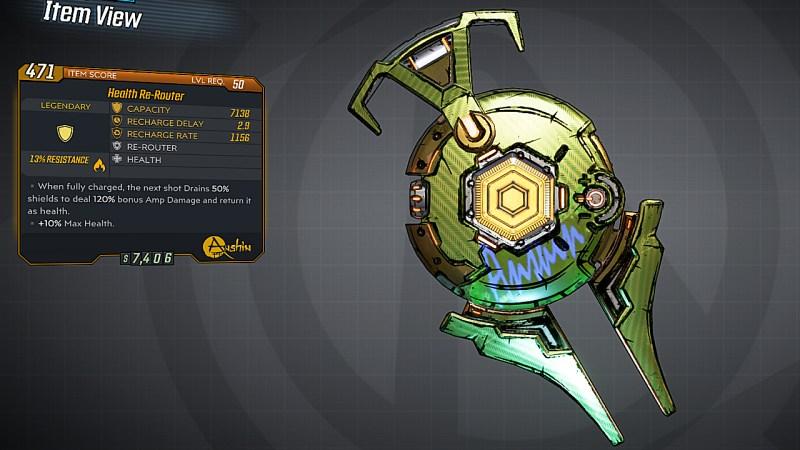 Borderlands 3 Legendary Anshin Shield - Re-Router