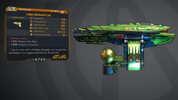 Borderlands 3 Legendary Atlas Pistol - Linc