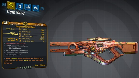 Borderlands 3 Legendary Maliwan Sniper Rifle - Firestorm