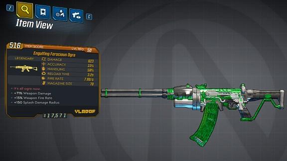 Borderlands 3 Legendary Vladof Assault Rifle - Ogre
