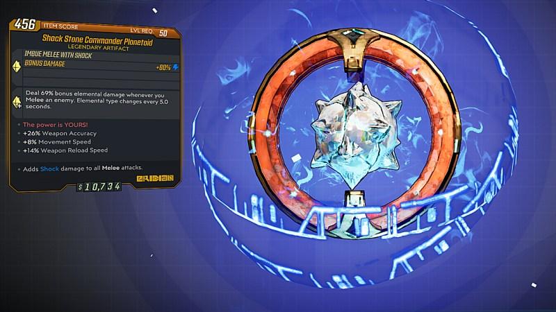 Borderlands 3 Legendary Eridian Artifact - Commander Planetoid