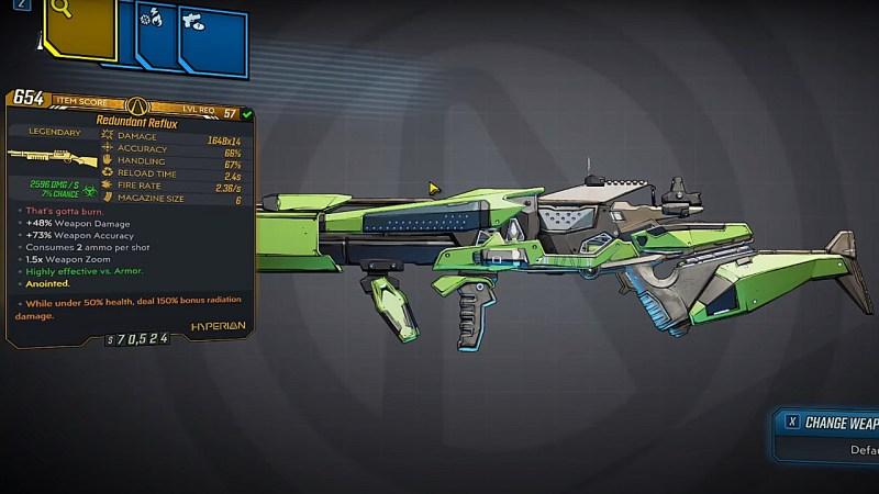 Borderlands 3 Legendary Hyperion Shotgun - Reflux