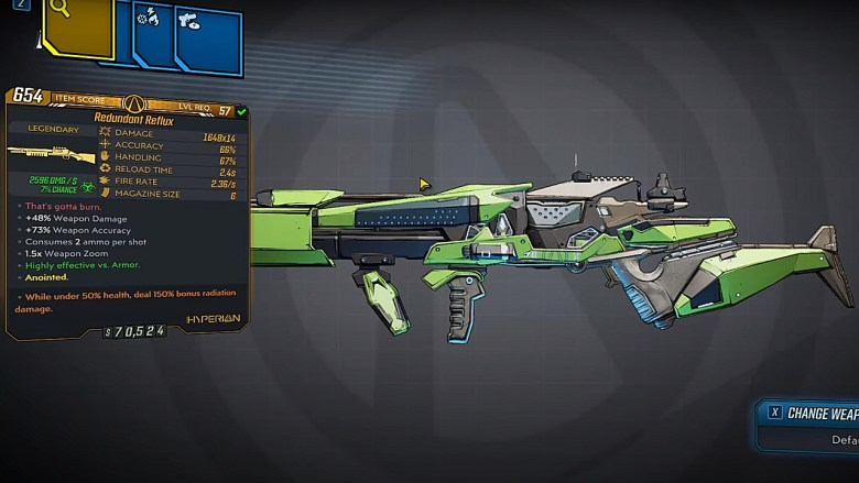 Borderlands 3 Legendary Hyperion Shotgun - Reflux