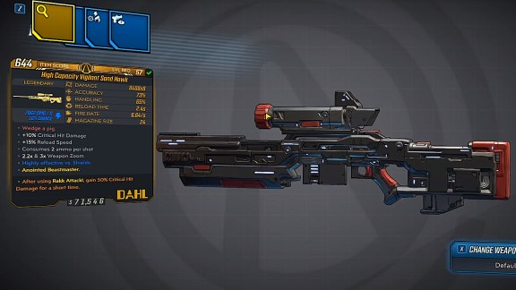 Borderlands 3 Legendary Hyperion Sniper Rifle - Sand Hawk
