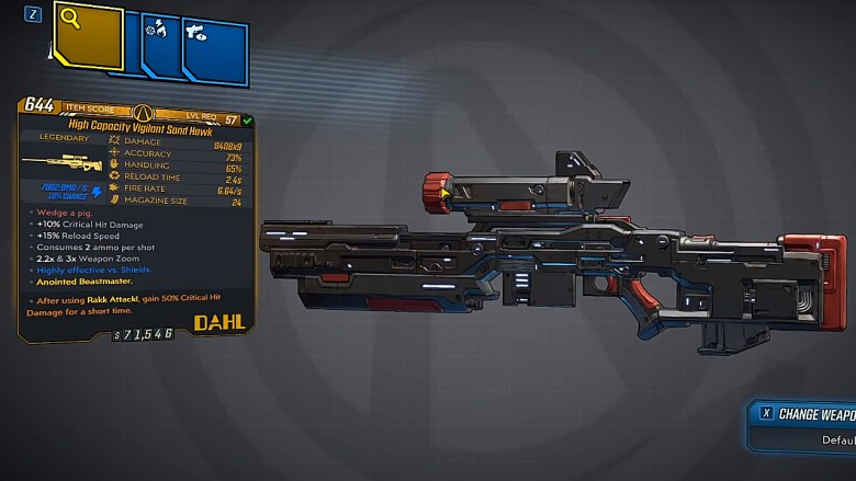 Borderlands 3 Legendary Hyperion Sniper Rifle - Sand Hawk