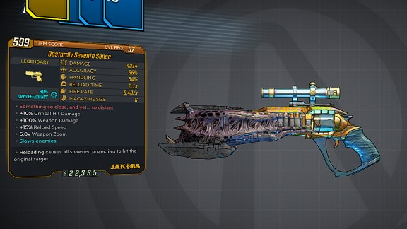 Borderlands 3 Legendary Jakobs Pistol - Seventh Sense