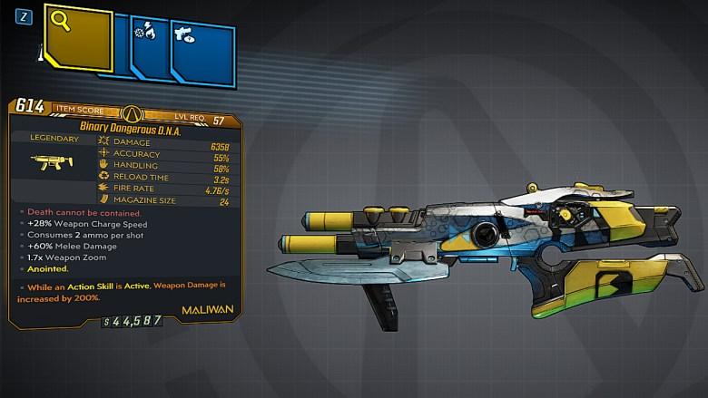 Borderlands 3 Legendary Maliwan SMG - DNA