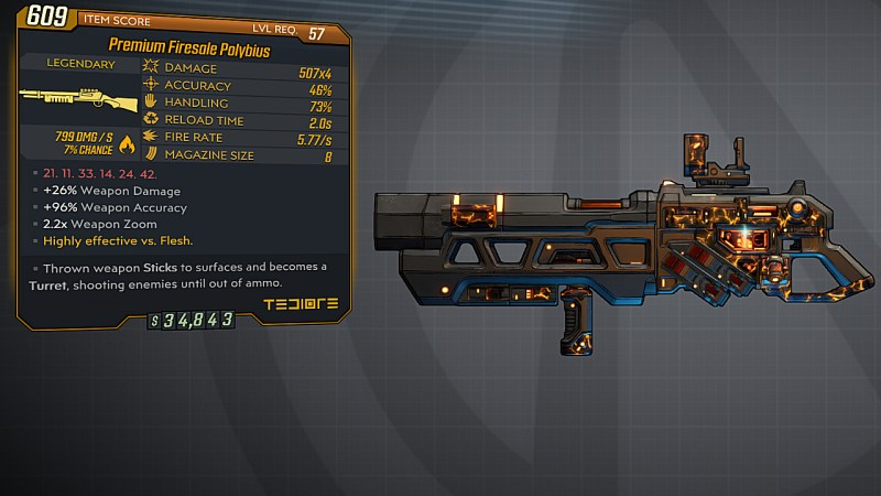 Borderlands 3 Legendary Tediore Shotgun - Polybius