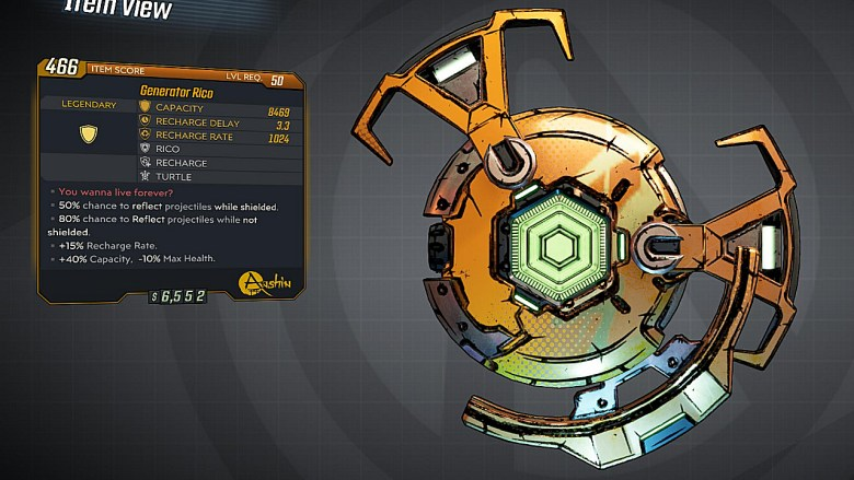 Borderlands 3 Legendary Anshin Shield - Rico