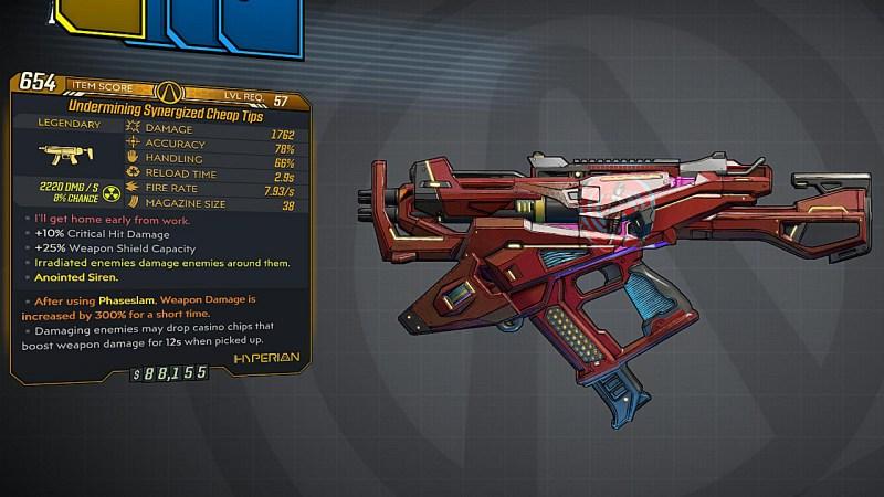 Borderlands 3 Legendary Hyperion SMG - Cheap Tips