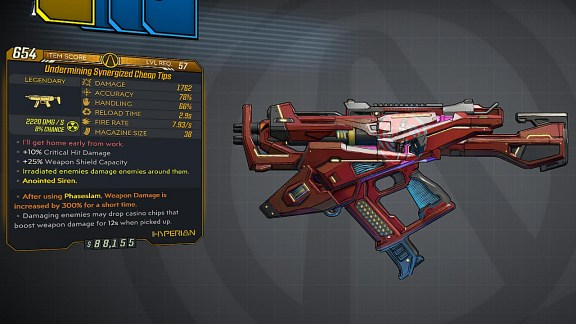 Borderlands 3 Legendary Hyperion SMG - Cheap Tips