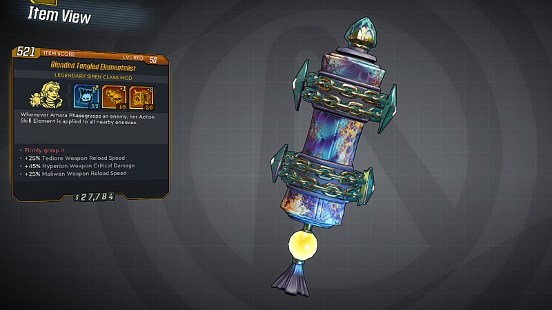 Borderlands 3 Legendary Siren Class Mod - Elementalist