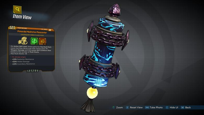 Borderlands 3 Legendary Siren Class Mod - Phasezerker