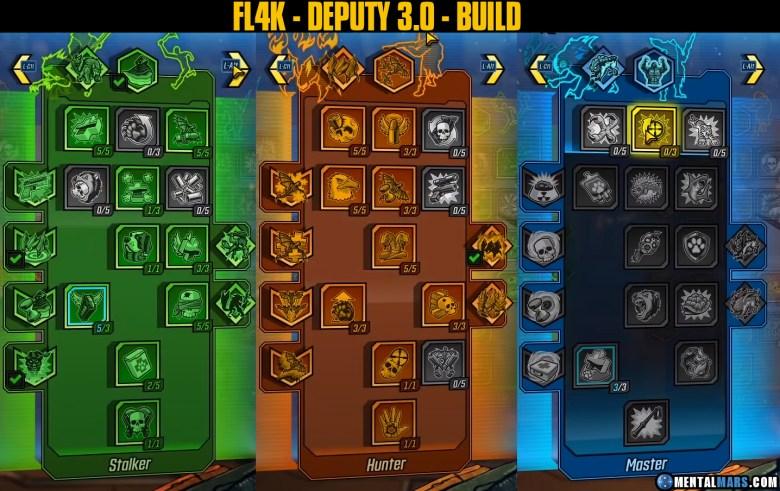 FL4K - Deputy 3.0 Build Skill Tree - Borderlands 3