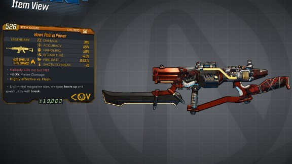 Borderlands 3 Legendary COV Assault Rifle - Pain is Power