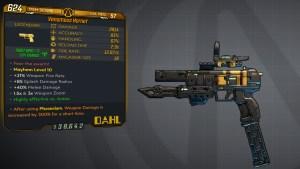 Borderlands 3 Legendary Dahl Pistol - Hornet