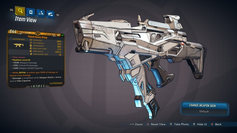 Borderlands 3 Legendary Hyperion SMG - Smog