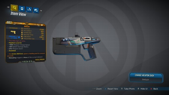 Borderlands 3 Legendary Maliwan Pistol - Beacon