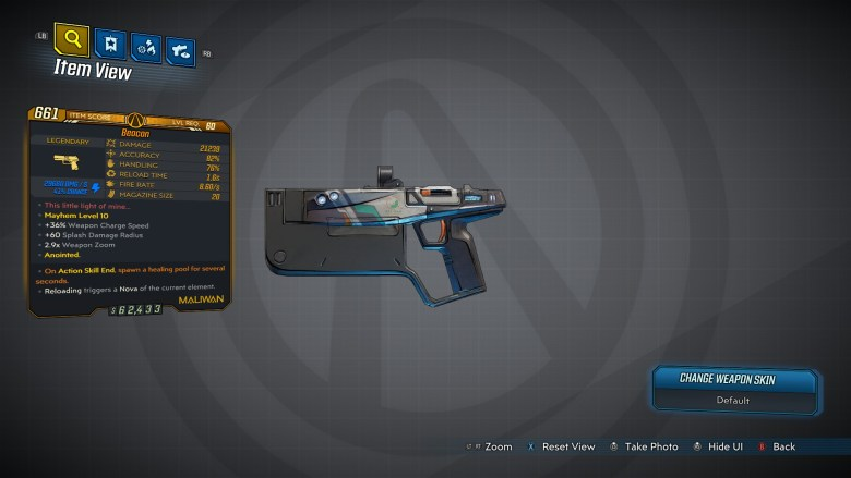 Borderlands 3 Legendary Maliwan Pistol - Beacon