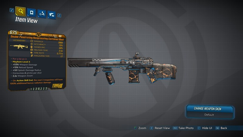 Borderlands 3 Legendary Torgue Assault Rifle - Contained Blast