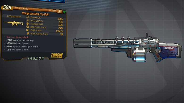 Borderlands 3 Legendary Torgue Assault Rifle - Try-Bolt