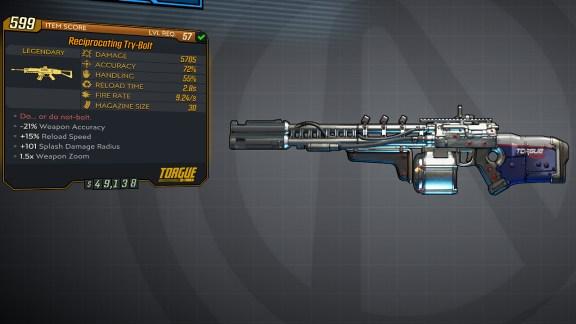 Borderlands 3 Legendary Torgue Assault Rifle - Try-Bolt