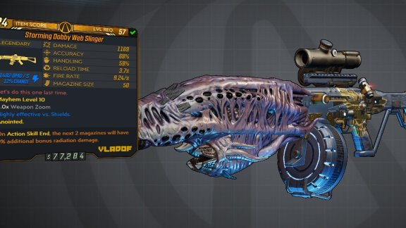 Borderlands 3 Legendary Vladof Assault Rifle - Web Slinger