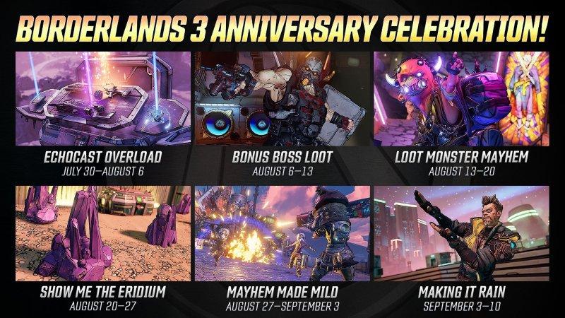Borderlands 3 Anniversary Events