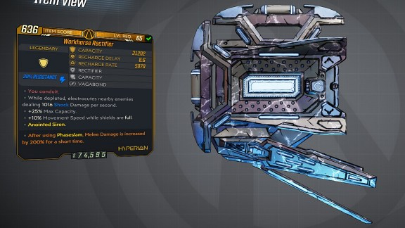 Borderlands 3 Legendary Hyperion Shield - Rectifier