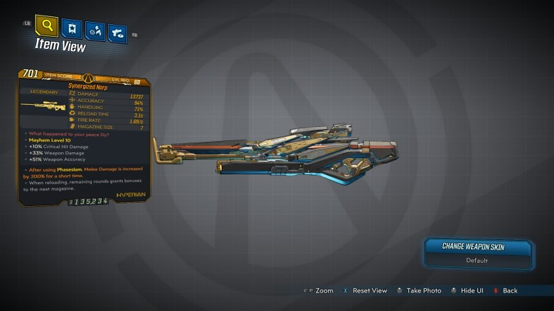 Borderlands 3 Legendary Hyperion Sniper Rifle - Narp