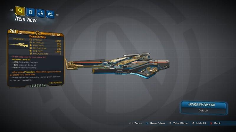 Borderlands 3 Legendary Hyperion Sniper Rifle - Narp