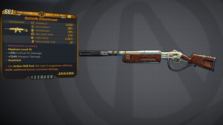 Borderlands 3 Legendary Jakobs Assault Rifle - Stonethrower