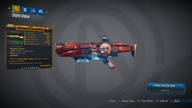 Borderlands 3 Legendary Maliwan Shotgun - Frequency