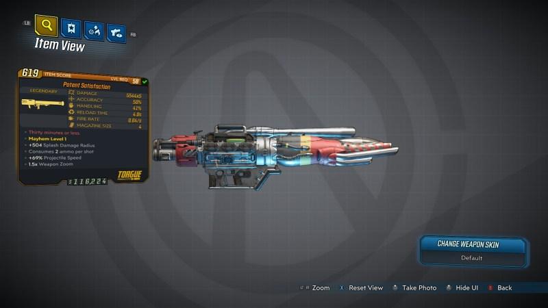 Borderlands 3 Legendary Torgue Rocket Launcher - Satisfaction