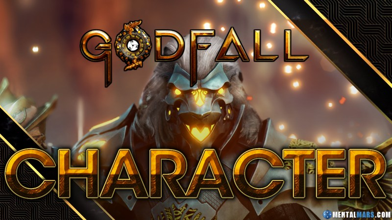 Godfall's Character is defined by its loadout.