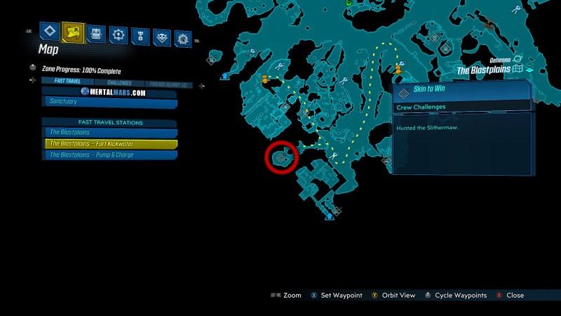 Slithermaw Spawn Location - Borderlands 3 Bounty of Blood