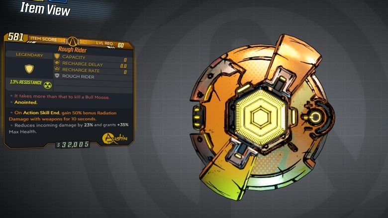 Borderlands 3 Legendary Anshin Shield - Rough Rider