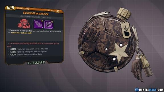 Borderlands 3 Legendary Gunner Class Mod - Eternal Flame