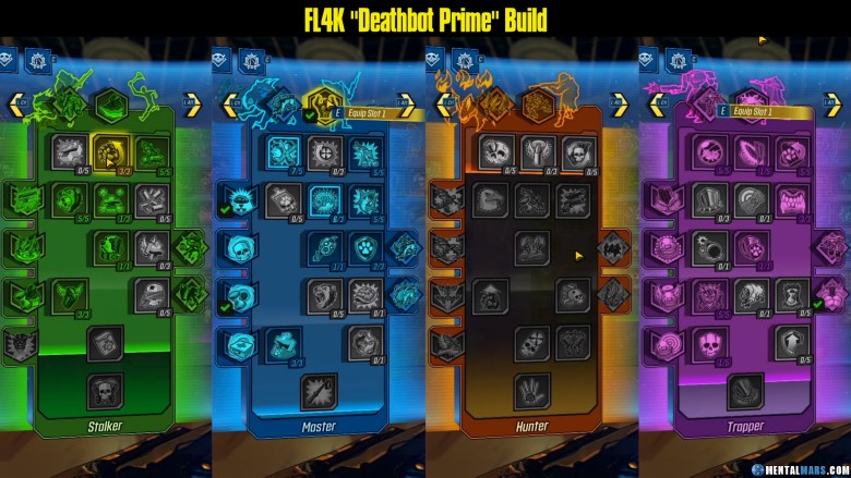 FL4K - Deathbot Prime Build Skill Tree - Borderlands 3