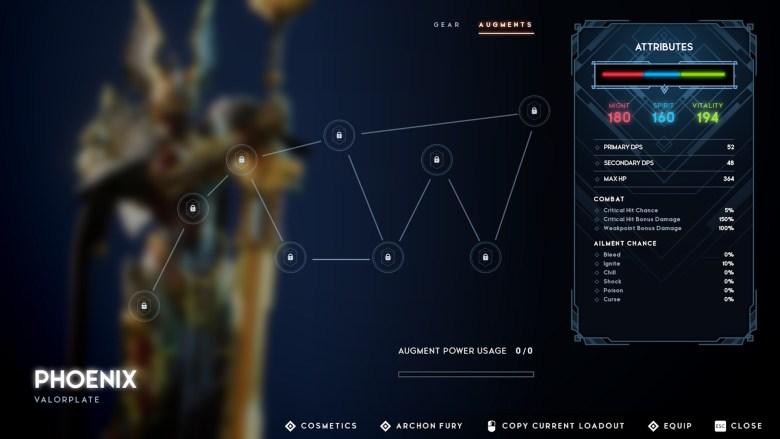 Godfall Phoenix Valorplate Augments