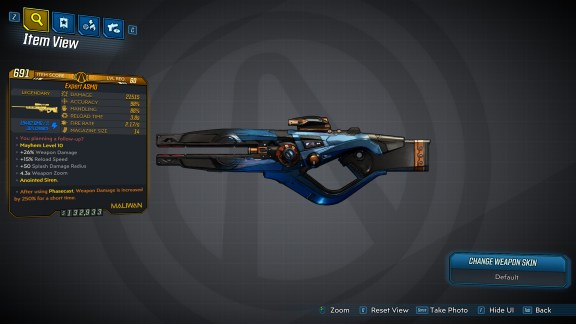 Borderlands 3 Legendary Maliwan Sniper Rifle - ASMD