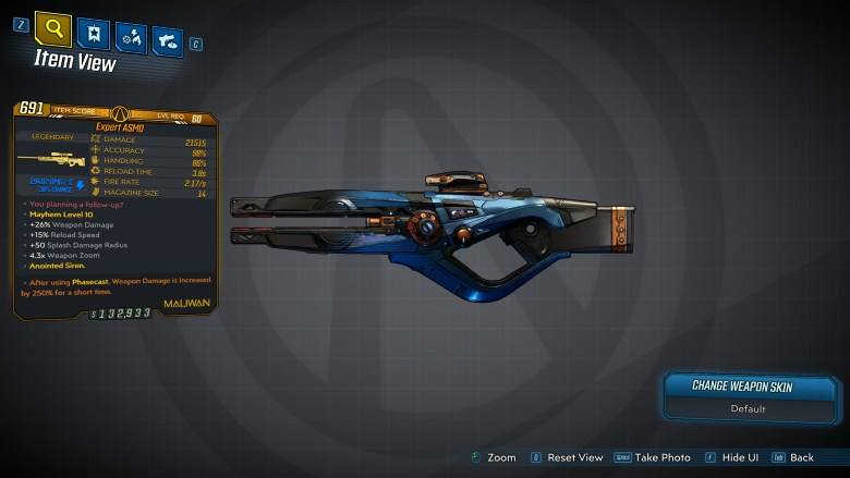 Borderlands 3 Legendary Maliwan Sniper Rifle - ASMD