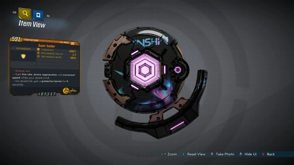 Borderlands 3 Legendary Anshin Shield - Super Soldier