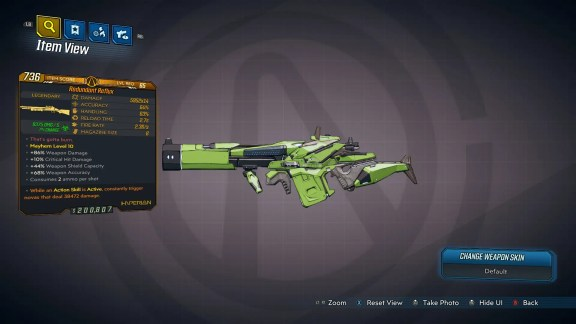 Borderlands 3 Legendary Hyperion Shotgun - Reflux - LVL65