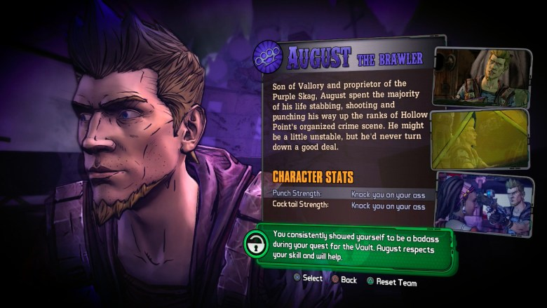 How to unlock August in Tales From the Borderlands