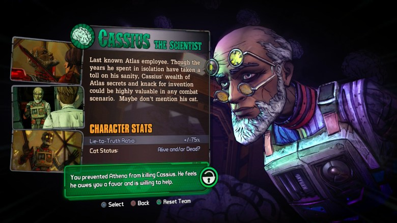 How to unlock Cassius in Tales From the Borderlands