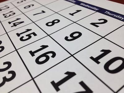 ベンチマークの為のカレンダー